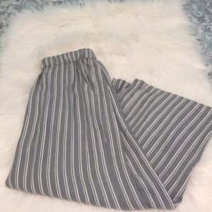 American Eagle Outfitters striped palazzo gauchos